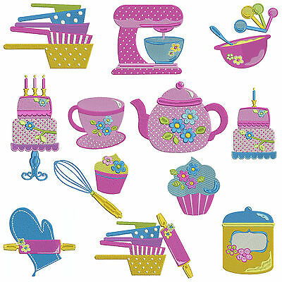 ** IN THE KITCHEN ** Machine Embroidery Patterns * 12 designs, 3 sizes