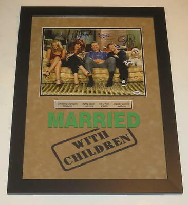 Married With Children Cast Signed 11X14 Photo  Professionally Framed Psa Loa