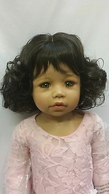 """NWT Monique Melinda Dk Brown Doll Wig 17-18"""" fits Masterpiece Doll(WIG ONLY)"""