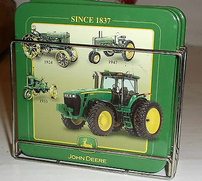 John Deere Beverage Four Coaster Set With Rack