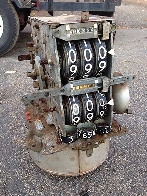 """Vintage Veeder Root Model 56 ? Gas Pump Counter Dial """"THE HEAD FOR FIGURES"""""""