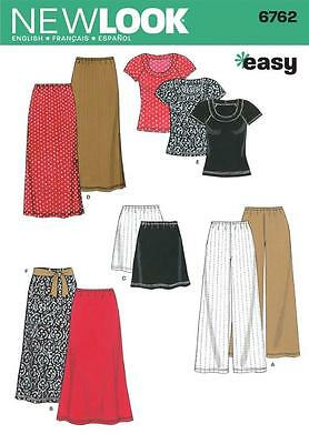 NEW LOOK Sewing Pattern Easy Miss Womens Plus Trousers+Skirt+Top Sz 6-24 ~6762