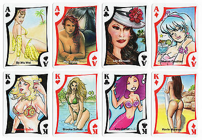 2016 Island Dreams 6 The Girls of the Island 54 Playing Card Sketch Art Base Set
