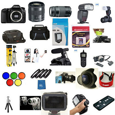 Canon EOS 80D 18-55mm STM 55-250mm YN 600EXRT 5 Years Warranty 60 Piece Pro KIT
