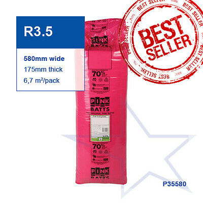 R3.5 | 580mm Pink Batts Thermal Ceiling Insulation