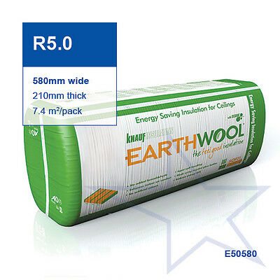 R5.0 | 580mm Knauf Earthwool® Thermal Ceiling Insulation Batts