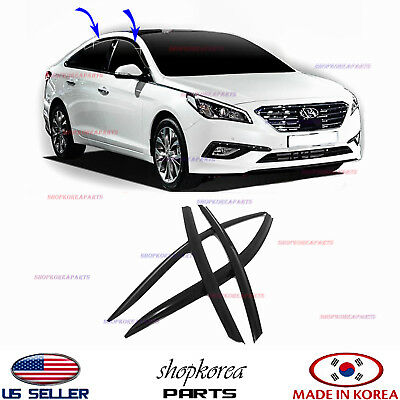 NEW SMOKED DOOR VISOR WINDOW SUN VENT DEFLECTOR fits HYUNDAI SONATA 2015-2019