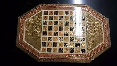 Gold-leaf Inlay Chess Board (Persian Khatam)