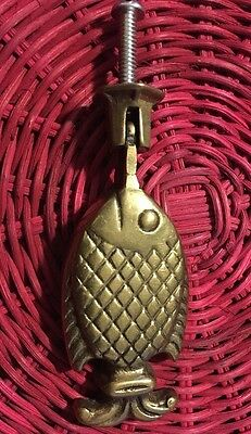 BRASS FISH DOOR KNOCKER -- Vintage -- Rare -- Free ship