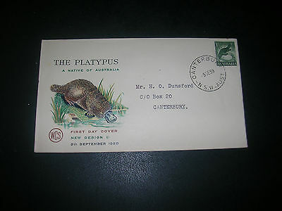 australia first day cover pre decimal the platypus 9-9-1959 addressed