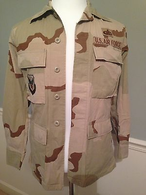 Lot of 2 USAF DESERT CAMO SHIRT W/ Patches Size XS Extra Small