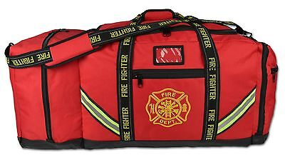 Fireman 3XL Firefighter Rescue Step-In Turnout Fire Gear Bag with Helmet Pocket