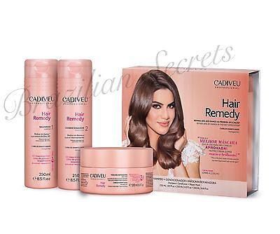 CADIVEU HAIR REMEDY SHAMPOO CONDITIONER MASK for DAMAGED HAIR HOME CARE GIFT SET