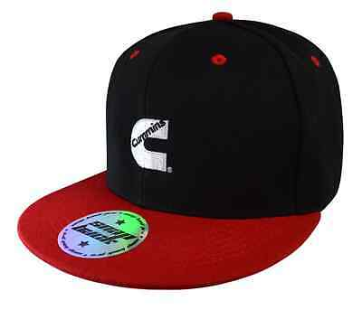 Genuine Cummins black & red flat peak cap; hat; Truck;