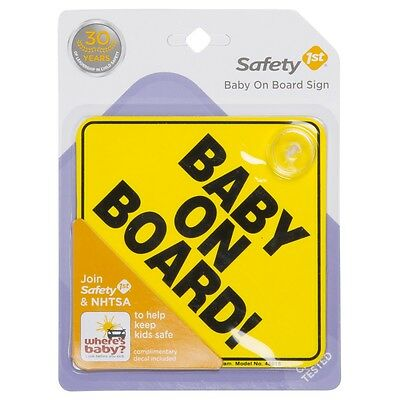 Safety 1St Baby On Board Sign W/ Complimentary Decal Included