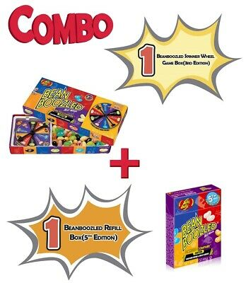 Jelly Belly Bean Boozled 4th Edition 1 Spinner Wheel Game + 1 Refill boxes