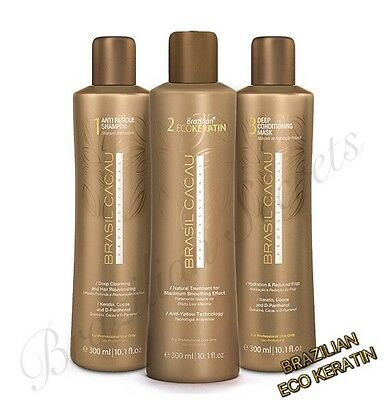 Cadiveu Brasil Cacau Eco Brazilian Keratin Treatement Blow Dry Straightening Kit