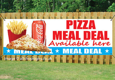 PIZZA MEAL DEAL HERE BANNER OUTDOOR SIGN waterproof PVC with Eyelets