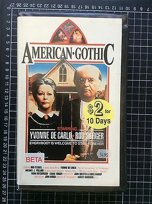 AMERICAN GOTHIC rare Virgin BETA not VHS video cult 80s offbeat horror comedy