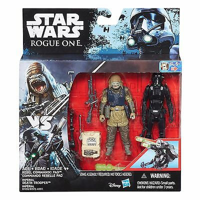 Star Wars Rogue One REBEL COMMANDO PAO & DEATH TROOPER 2-Pack Figures - MINT