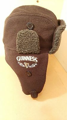 Official Guinness Winter Trapper Hat Cap Memorabilia Size L