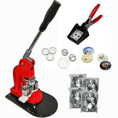 "(32mm(1.25""Kit))Button maker + 32mm Mould + 200 pin parts + 32mm Hanlding cutter"