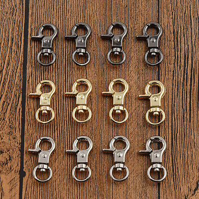 10 Pcs Lobster Clasp Leather Bag Accessories Buckle Snap Swivel Trigger Hook