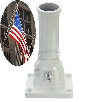 Flag Pole Wall Mount Metal Flagpole Holder for Flags Windsock Screw Adjustable