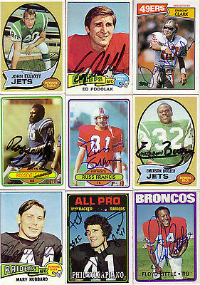 Phil Villapiano Oakland Raiders Autographed Signed 1974 Topps Card
