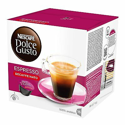 Dolce Gusto Espresso Decaffeinato Coffee 6 Boxes Total 96 Capsules 96 Servings