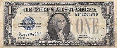 1928 FUNNY BACK - $1 Silver Certificate Note