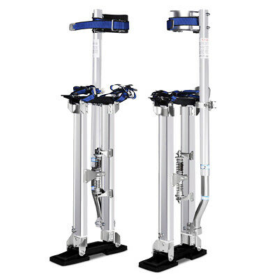 18-30 Inch Drywall Stilts Aluminum Tool Painters Walking Taping Finishing Silver
