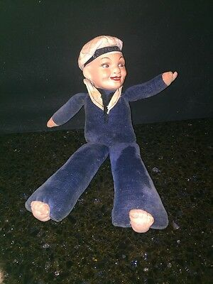 1930'sSailor Doll Composition Head Navy Doll Rotterdam ?Nora Welling