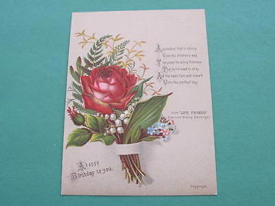 Victorian Christmas Birthday Greeting Card Verse by Frances Ridley Havergal