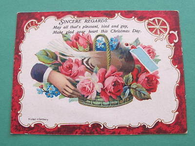 Victorian Christmas Greeting Card Printed in Germany