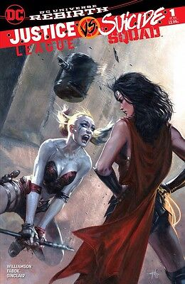 Justice League Vs. Suicide Squad #1 Dell Otto Variant Harley Quinn Wonder Woman