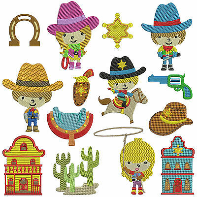 COWBOY 1 * Machine Embroidery Patterns * 14 designs