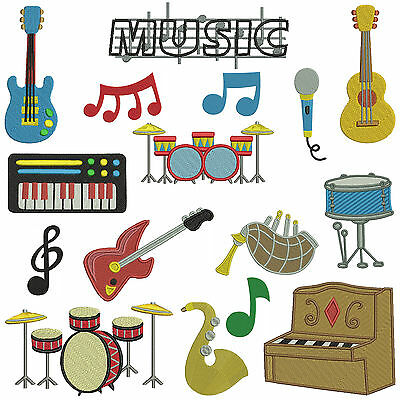 * MUSIC 1 * Machine Embroidery Patterns * 16 Designs in 3 Sizes