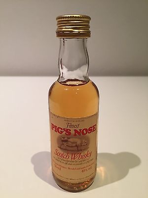 Pig's Nose Scotch Whisky Miniature 50mL - Rare Late 1970's Bottle!!!