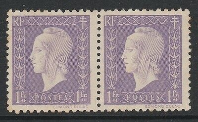 1944 FRANCE 1f LILAC MARIANNE STAMPS PAIR– MNH