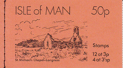Isle of Man Stamp Booklet: 1974-03: St Michael's Church - Langness (50p)