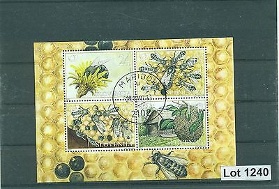 Lot 1240..Slovenia...used 2001 souvenir sheet on bees