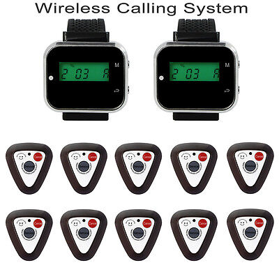 Sale Restaurant Wireless Paging System Watch Receiver Guest Calling Button Pager