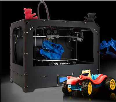 CTC 3D Printer Black DUPLICATOR 4 Dual Extruders with 1 roll of abs Makerbot Rep