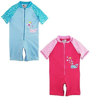 Sweet & Soft Little Girls Swimwear Animal Print 1-Piece Swim Rashguard