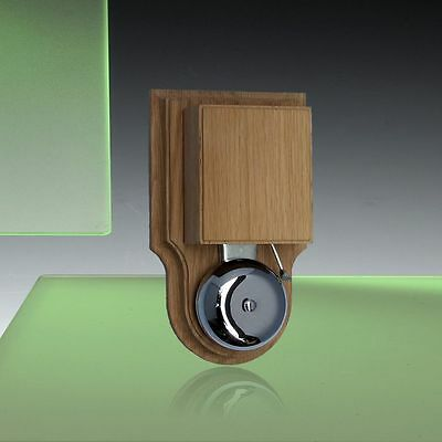 Wired Wall Mounted London Striker Doorbell / Buzzer, in a Solid Natural Oak Case