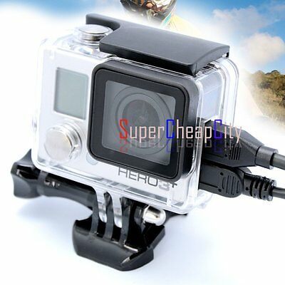 AU Skeleton Protective Opening Side Housing Case With Lens For GoPro Hero3+ 4