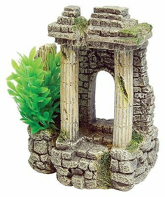 Ancient Roman Ruin Columns & Plants Decoration Ornament for Aquarium Fish Tank