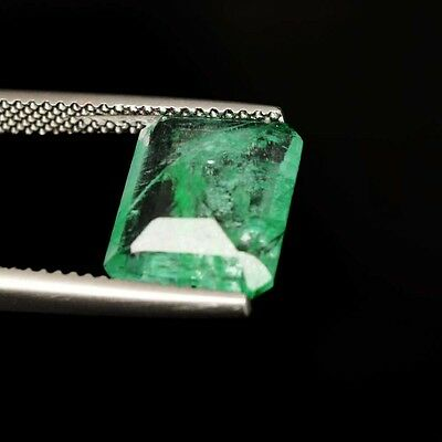 Certified 4.00 Ct. Fine Natural Emerald Octagon Zambia Untreated Loose Gem B-527
