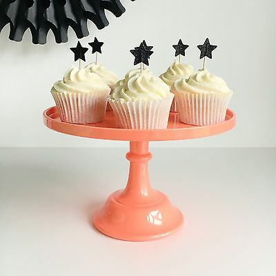 Coral Melamine Cake Stand - 24cm